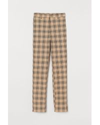 H&M Cigarette Trousers - Natural