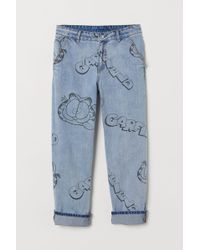 H&M - Patterned Jeans - Lyst