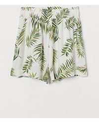 H&M Weite Shorts - Weiß