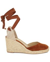 Hobbs - Chocolate 'trina' Wedge Sandals - Lyst