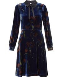 Hobbs - Eliora Velvet Dress - Lyst