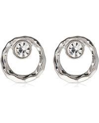Hobbs - Silver 'pia' Stud Earrings - Lyst