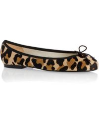 French Sole - Jaguar Print Henrietta Flats In Pony Hair - Lyst