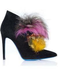 Loriblu - High Multi Fur Bootie - Lyst