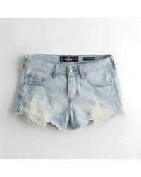 Hollister - Girls Low-rise Denim Boyfriend Shorts From Hollister - Lyst