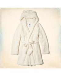 Hollister - Girls Hooded Sherpa Robe From Hollister - Lyst