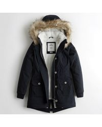 Hollister - Girls Stretch Cozy-lined Parka From Hollister - Lyst