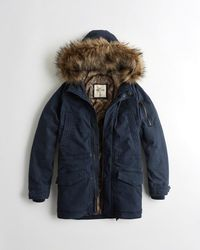 Hollister - Guys Faux-fur-lined Twill Parka From Hollister - Lyst