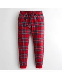 Hollister - Guys Plaid Flannel Jogger Pants From Hollister - Lyst