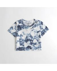 Hollister - Girls Embroidered Ultra Crop Graphic Tee From Hollister - Lyst