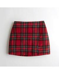 Hollister - Girls Ultra High-rise Wool-blend Wrap Skirt From Hollister - Lyst