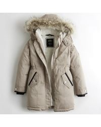 Hollister - Girls Cozy-lined Down Parka From Hollister - Lyst