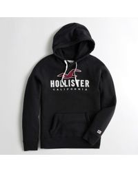 Hollister - Guys Logo Graphic Hoodie From Hollister - Lyst