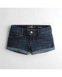 Hollister - Girls Advanced Stretch Low-rise Denim Short-shorts From Hollister - Lyst