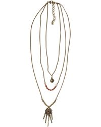 Hollister - Orange-beads Layer Necklace - Lyst