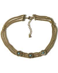 Hollister - Coin Choker Necklace - Lyst