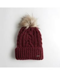 Hollister - Girls Cable Pom Beanie From Hollister - Lyst