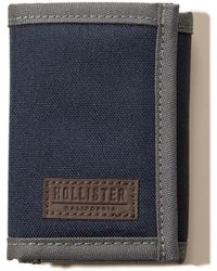 Hollister - Nylon Trifold Wallet - Lyst