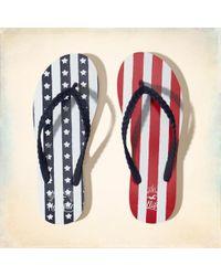 Hollister - Flag Flip Flops - Lyst
