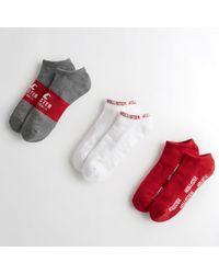 Hollister - Logo Ankle Socks 3-pack - Lyst