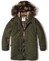 Hollister - Faux Fur Lined Parka - Lyst