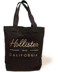 Hollister - Graphic Canvas Tote Bag - Lyst