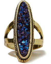 Hollister - Golden Statement Ring - Lyst