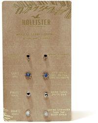Hollister - Stone Stud Earring Set - Lyst