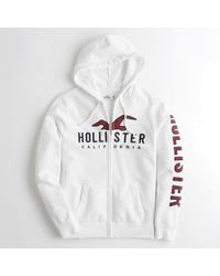 36705dff91 Lyst - Hollister Guys Logo Graphic Full-zip Hoodie From Hollister in ...