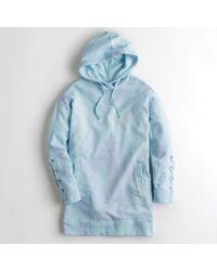 Hollister - Girls Lace-up Sweatshirt Dress From Hollister - Lyst