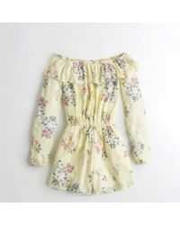 Hollister - Girls Ruffle Off-the-shoulder Romper From Hollister - Lyst