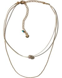 Hollister - Layered Chain Choker - Lyst