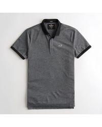 Hollister - Guys Stretch Shrunken Collar Slim Fit Polo From Hollister - Lyst