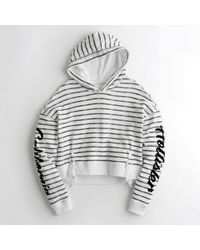 Hollister | Lace-up Terry Hoodie | Lyst