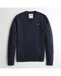 Hollister - Guys Lightweight V-neck Sweater From Hollister - Lyst