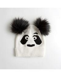 Hollister - Girls Panda Beanie From Hollister - Lyst