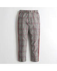 Hollister - Girls Side-stripe Woven Crop Slim Pants From Hollister - Lyst