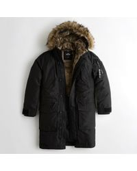 Hollister - Guys Faux-fur-lined Down Parka From Hollister - Lyst