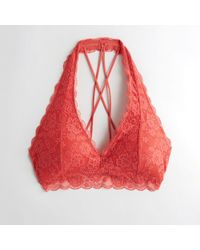 e341b2658ada0e Hollister - Girls Strappy Halter Bralette With Removable Pads From Hollister  - Lyst