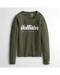 Hollister - Girls Waffle Graphic Tee From Hollister - Lyst