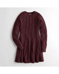 Hollister - Cable Sweater Dress - Lyst