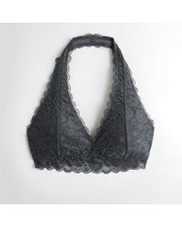 afe9ea3efb16b Hollister - Girls Gilly Hicks Everything Lace Halter Bralette With Removable  Pads From Hollister - Lyst