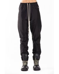 Rick Owens - Track Woven Trousers In Black - Lyst