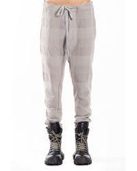 Nude:mm - Block Check Slim Pants In Grey - Lyst