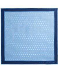 Paul Costelloe - Cian Spot Silk Pocket Square - Lyst