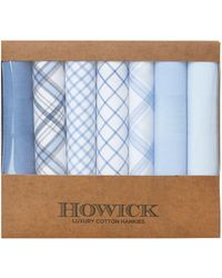 Howick | Luxury Cotton 7 Pack Blue Hankies | Lyst