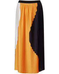 Jigsaw - Block Circle Pleated Skirt - Lyst