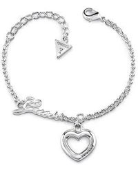 Guess | Grace Heart Bracelet | Lyst
