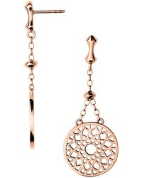 Links of London - Timeless Rose Gold Large Earrings - Lyst