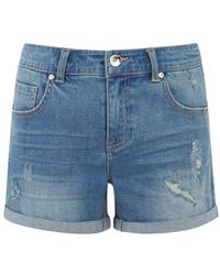 Oasis - Abigail Rip And Repair Shorts - Lyst